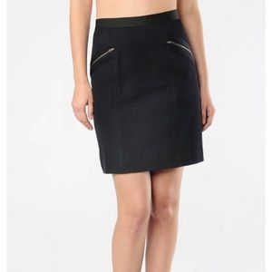 THEORY KAYSON A-LINE ZIP SKIRT IN SPACE